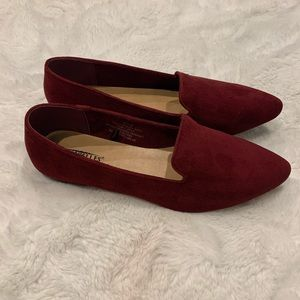 Seychelles red suede flats